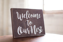 Welcome to Our Nest Wood Sign Home Decor | Entry Decor | Welcome Sign | Gift For Her
