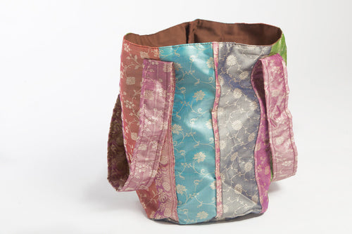 Raw Indian Silk Tote | Kaede