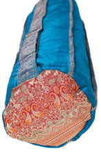 Upcycled Sari Yoga Mat Bag | Cobalt Blue