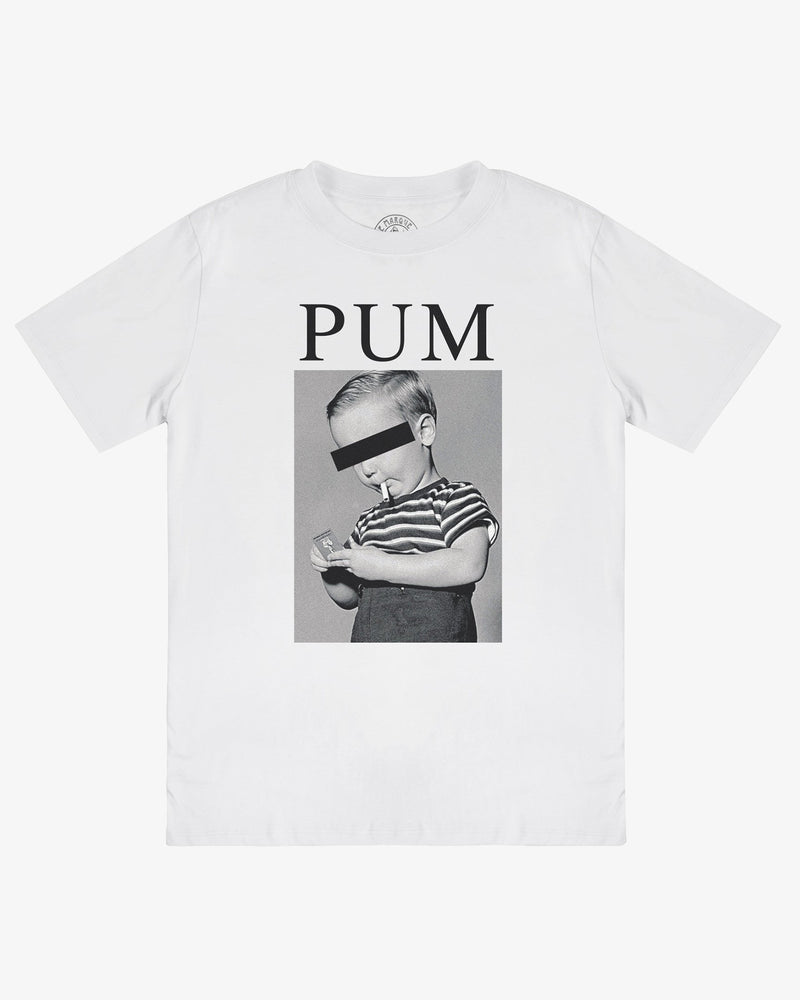 OVERSIZED TEE SHIRT: FUMER TUE (WHITE)