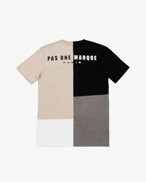 CREWNECK TEE SHIRT: PATCHWORK (MULTI)