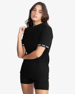 CREWNECK TEE SHIRT: SLEEVE (BLACK)