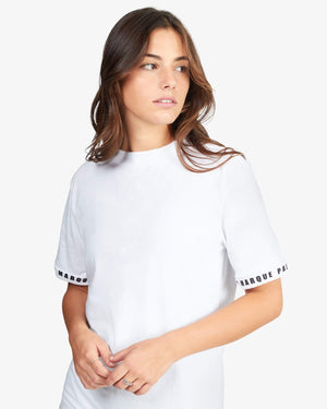 CREWNECK TEE SHIRT: SLEEVE (WHITE)