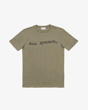 CREWNECK TEE SHIRT: SOCIAL REPRODUCTION (DARK GREEN)