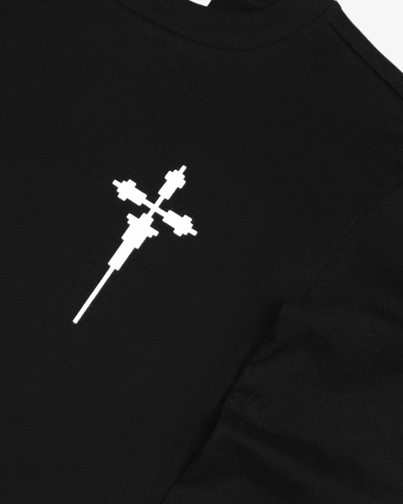 Cross Crewneck L/S Tee Shirt Regular (Black)