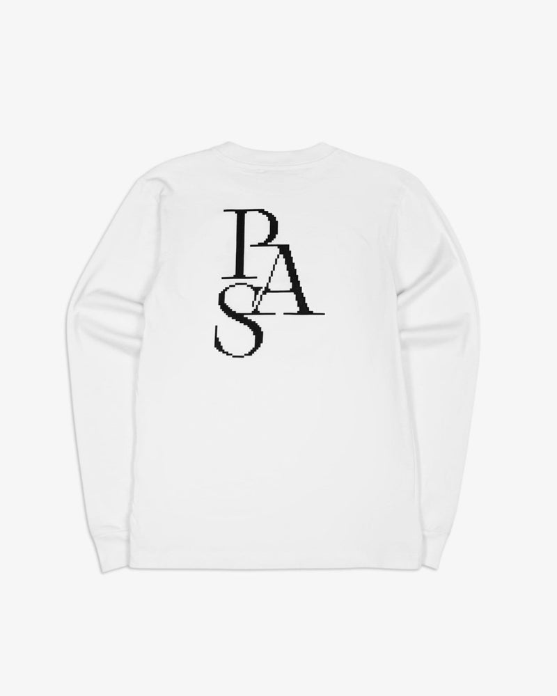 Cross Crewneck L/S Tee Shirt Regular (White)
