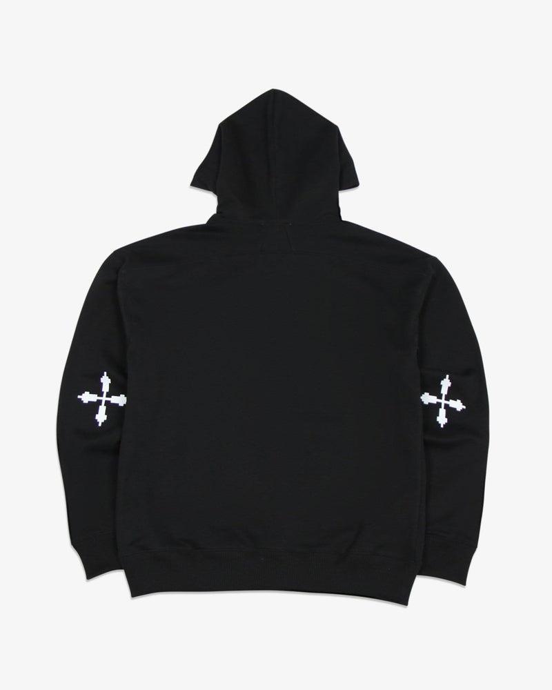 Oversized Hoodie Angel and Cross (Black)