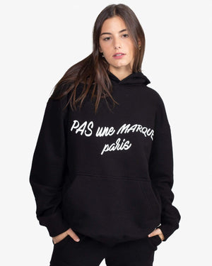 Load image into Gallery viewer, OVERSIZED HOODIE: CURSIVE (BLACK)
