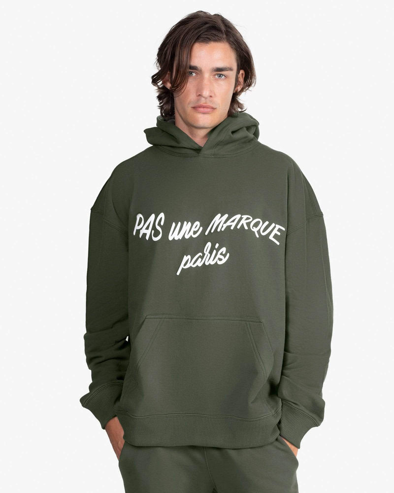 OVERSIZED HOODIE: CURSIVE (EMERALD GREEN) *24 HOURS ONLY*