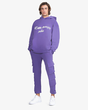 Load image into Gallery viewer, OVERSIZED HOODIE: CURSIVE (PURPLE)