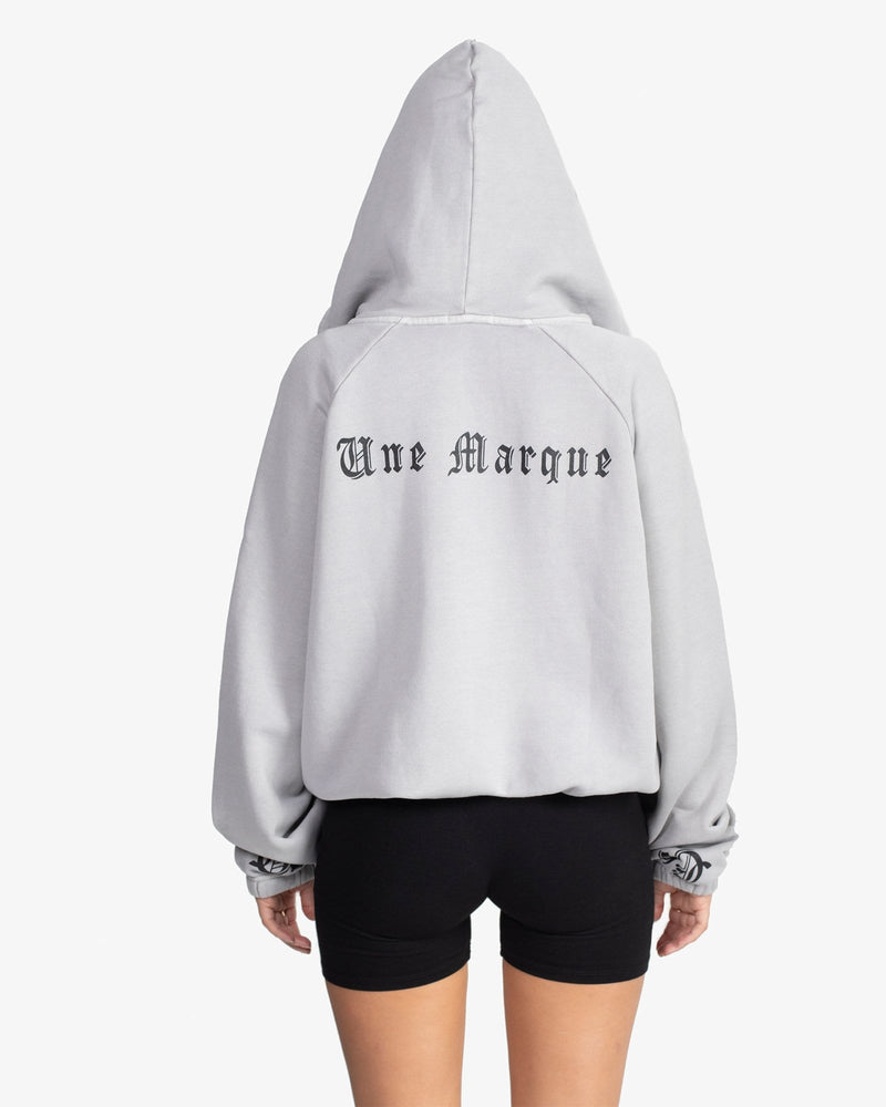 Load image into Gallery viewer, OVERSIZED HOODIE: DICHOTOMY (SMOKE)
