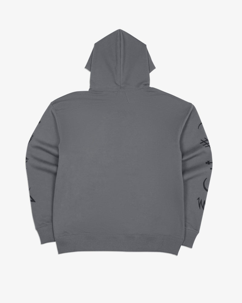 Oversized Hoodie Good and Evil Spirits (Graphite)
