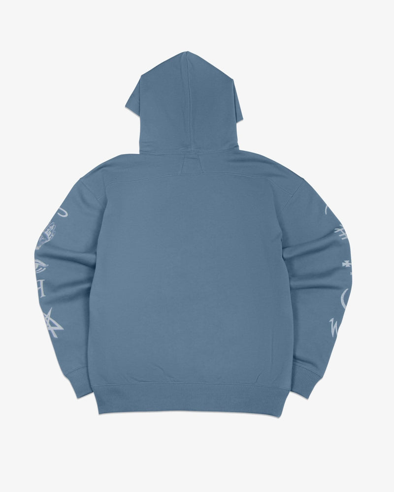Load image into Gallery viewer, Oversized Hoodie Good and Evil Spirits (Heather Blue)