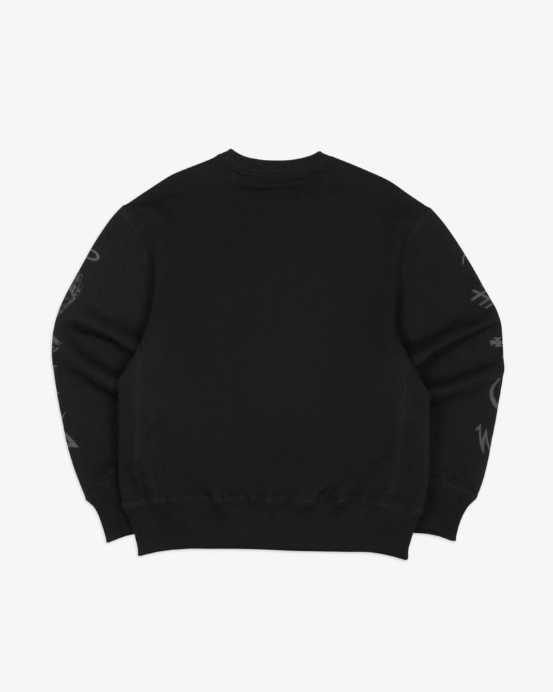 Load image into Gallery viewer, Oversized Sweatshirt Good and Evil Spirits (Black)