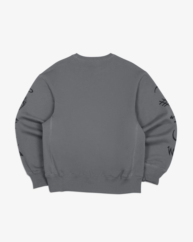 Oversized Sweatshirt Good and Evil Spirits (Graphite)