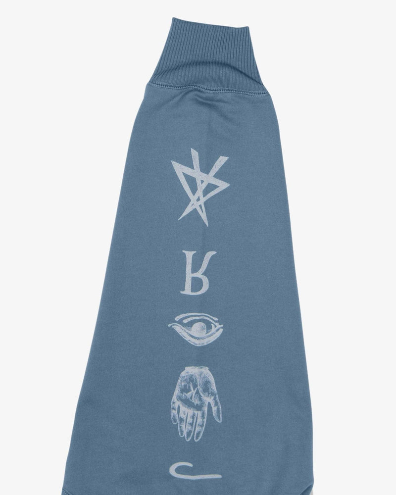 Load image into Gallery viewer, Oversized Sweatshirt Good and Evil Spirits (Heather Blue)