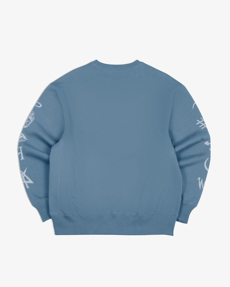 Oversized Sweatshirt Good and Evil Spirits (Heather Blue)