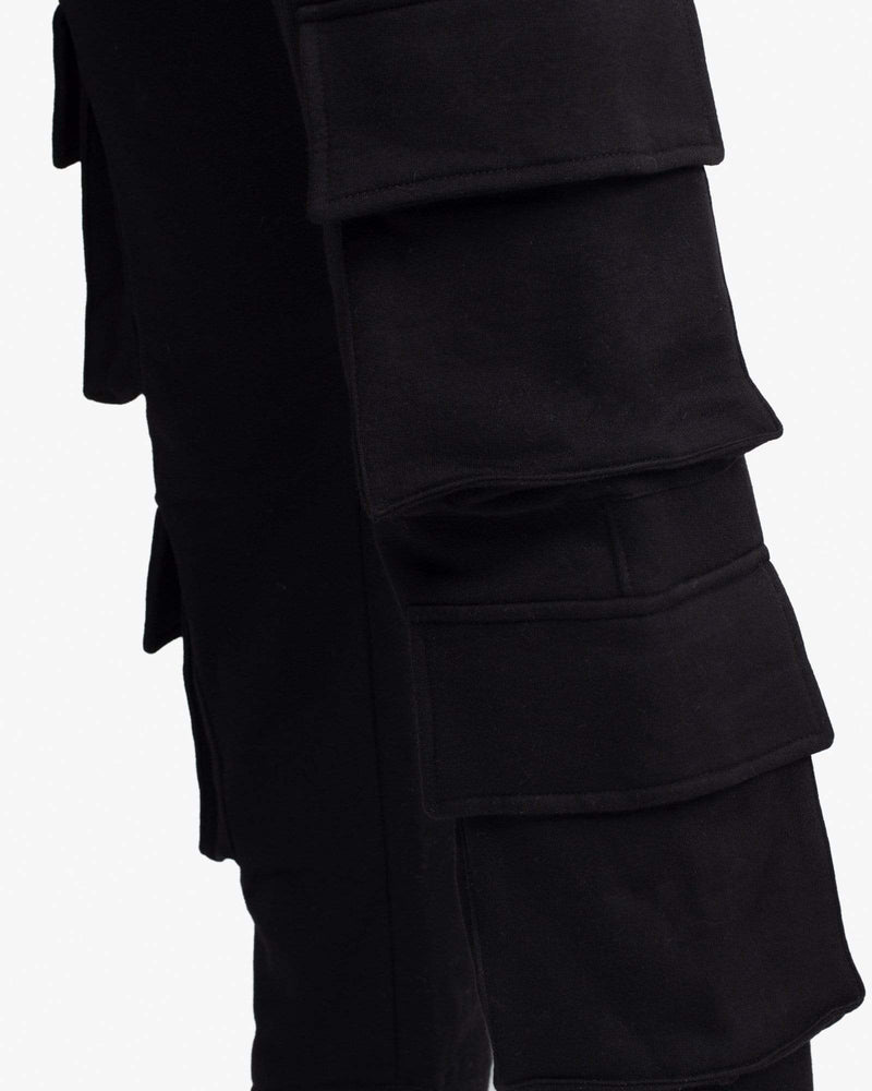 Load image into Gallery viewer, SWEATPANT: CARGO (BLACK)