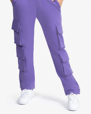 SWEATPANT: CARGO (PURPLE)