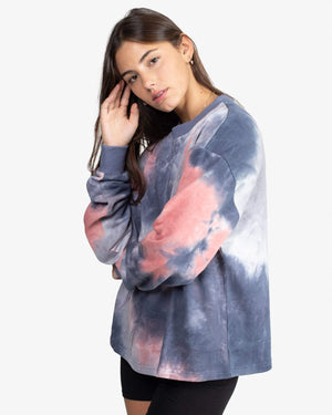 Load image into Gallery viewer, SWEATSHIRT: TIE DYE (BLUE) - Pas Une Marque Paris