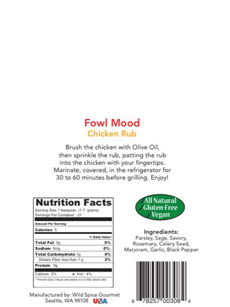 Fowl Mood Chicken Rub