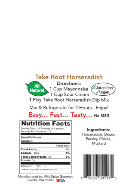 Take Root Horseradish Dip