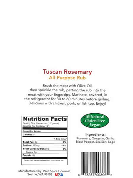Tuscan Rosemary All-Purpose Rub