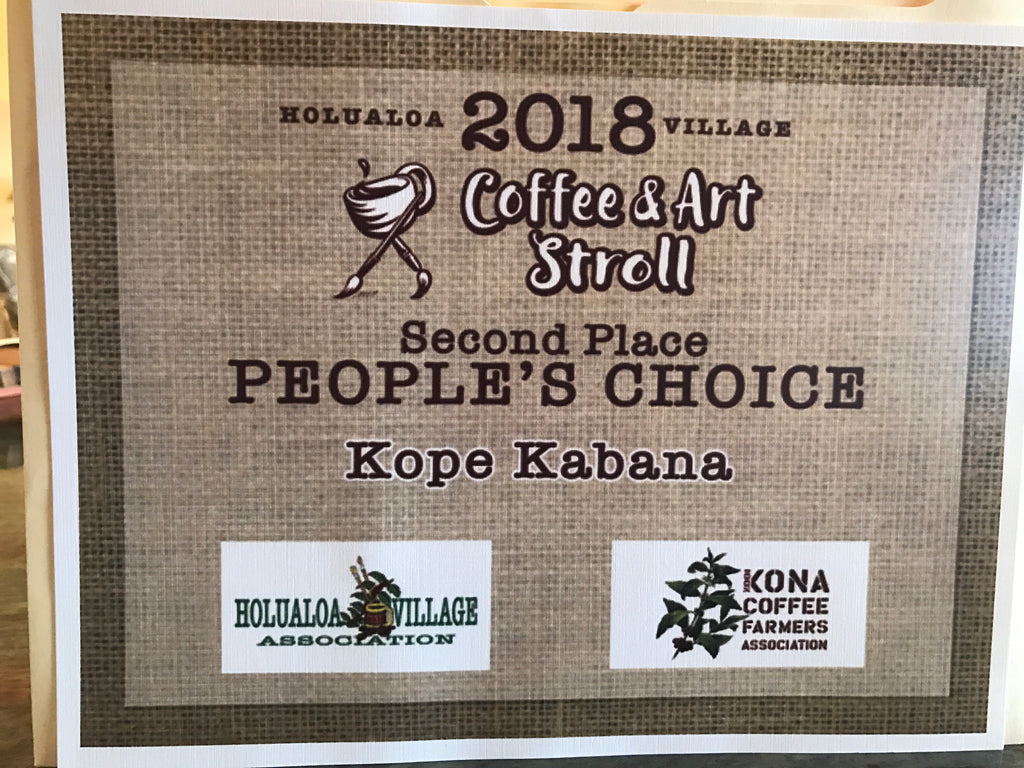 "Kope Kabana Named ""People's Choice"" at 2018 Kona Coffee Festival"