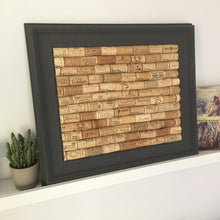 Corkboard made from used wine corks