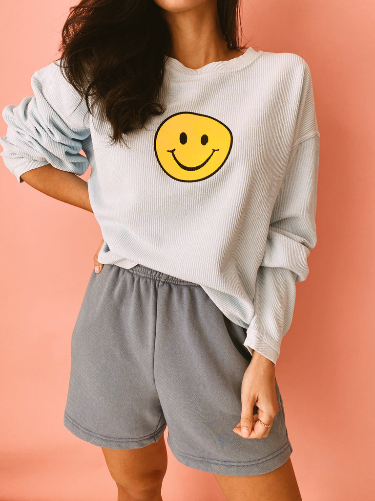 Smiley Face ◡̈ Cord Pullover ♡