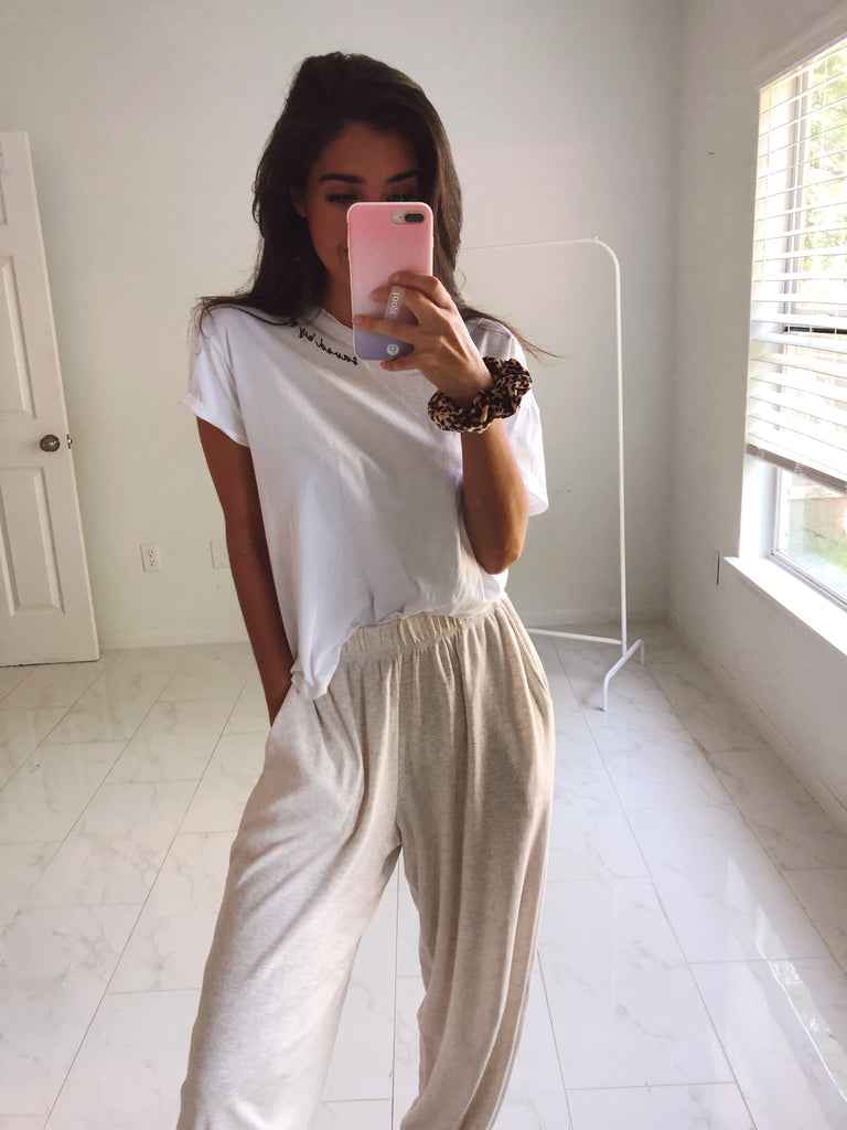 Saved by Grace Flowy White Tee