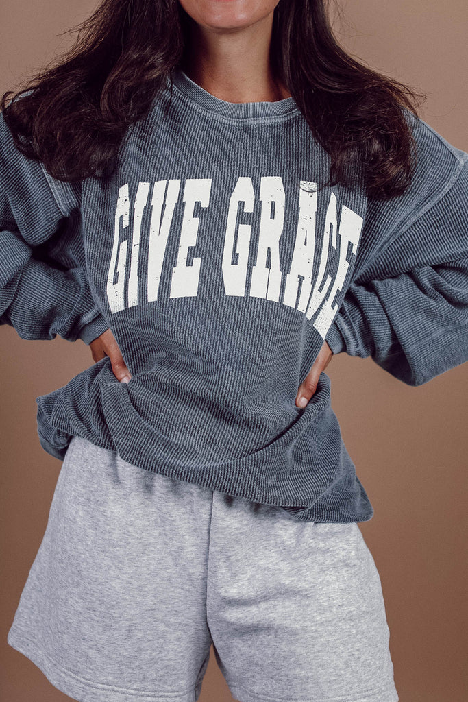 Give Grace Cord Pullover ♡