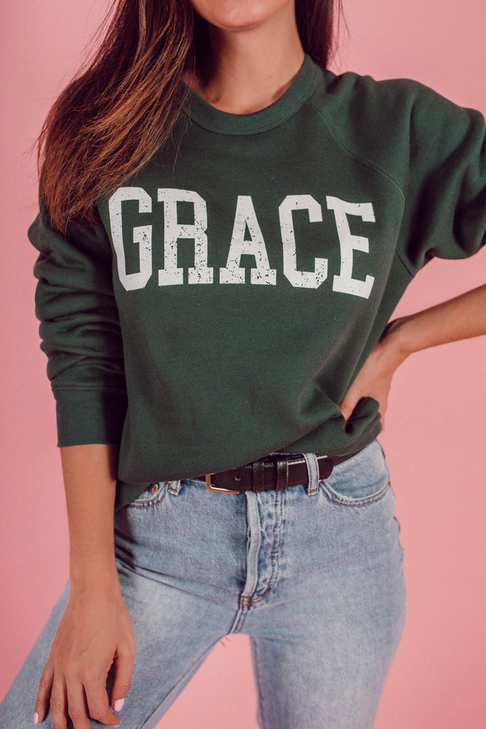 GRACE Vintage Collegiate Sweatshirt