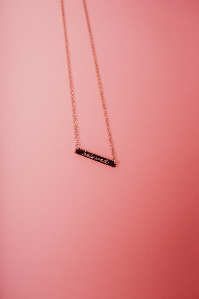 Beloved Bar Pendant Necklace