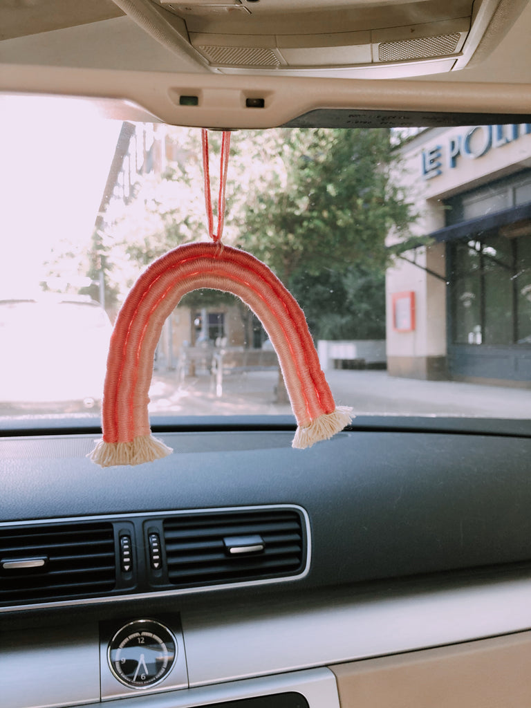 Rainbow Car Mirror Bauble