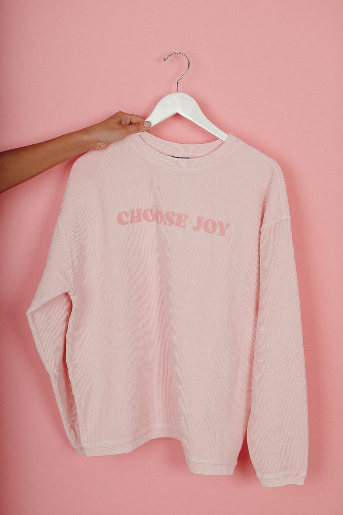 Choose Joy Cord Pullover ♡