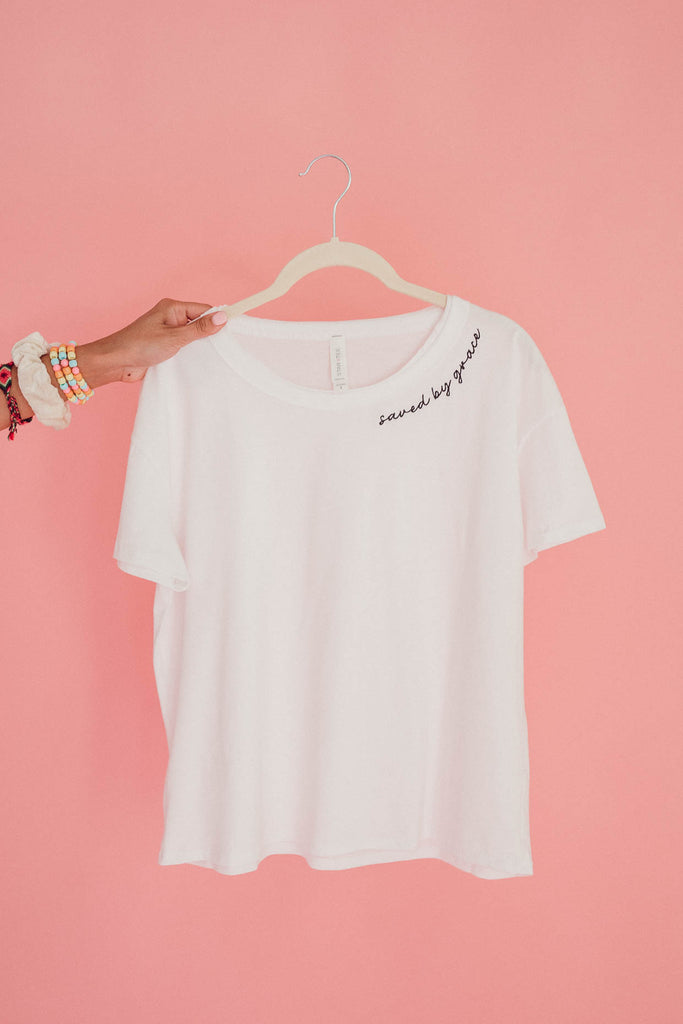 Saved by Grace Flowy Tee