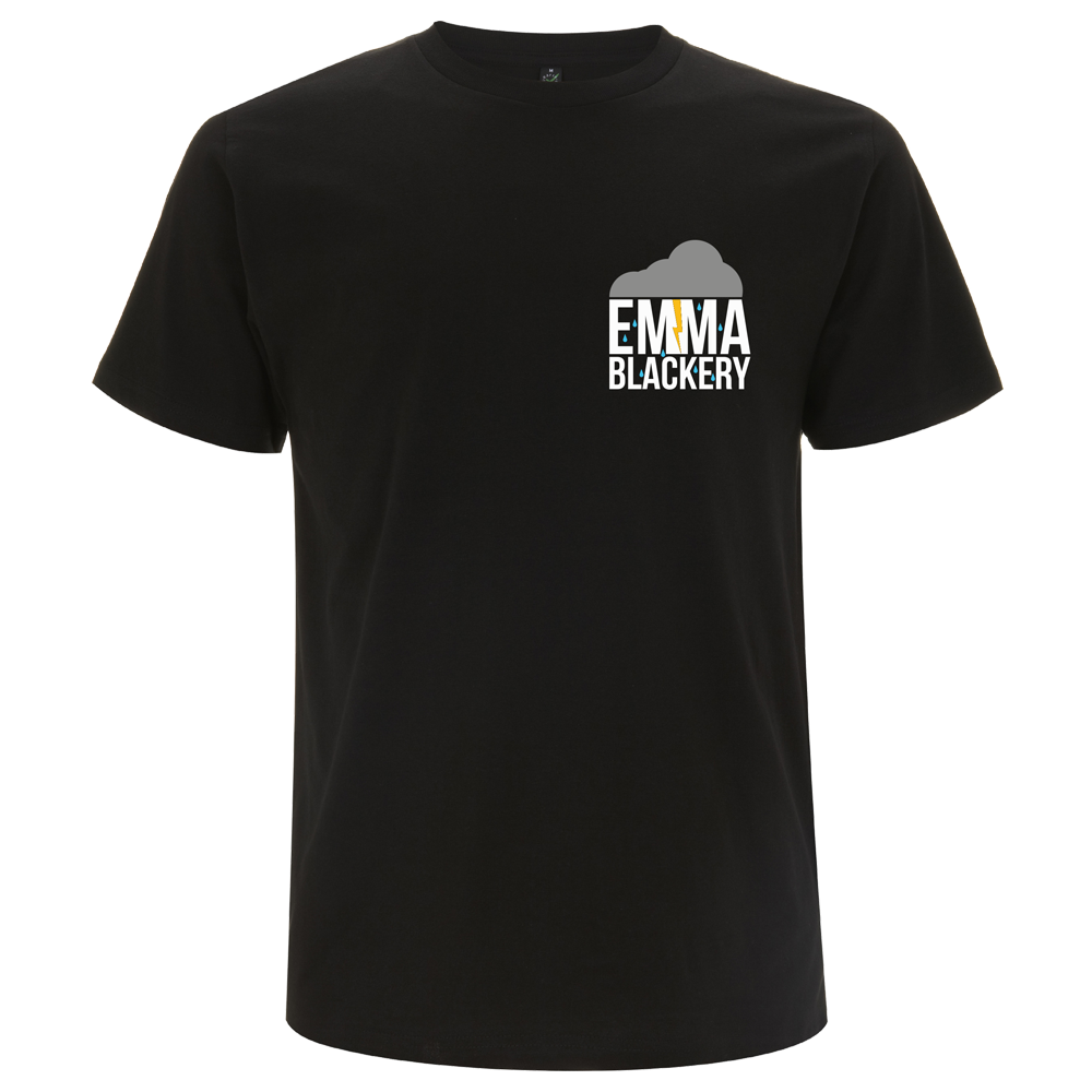 'Cloud Logo' Black T-Shirt