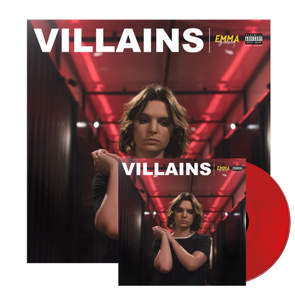 VILLAINS EXCLUSIVE RED VINYL + SIGNED LITHO PRINT