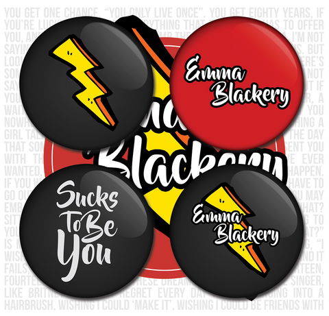 Emma Blackery Badge Set
