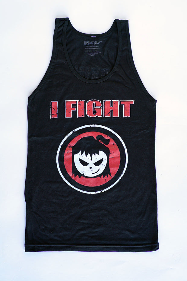 Fighter Girl- I Fight Tank Top Red