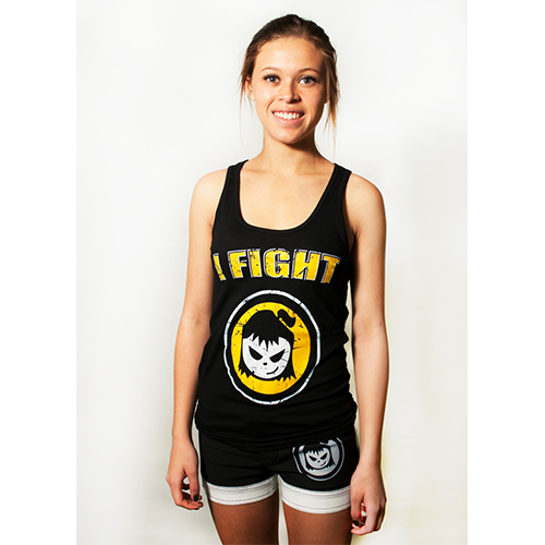 Fighter Girl- I Fight Tank Top Yellow