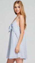 My Ship Has Sailed Pinstripe Bow Front Dress