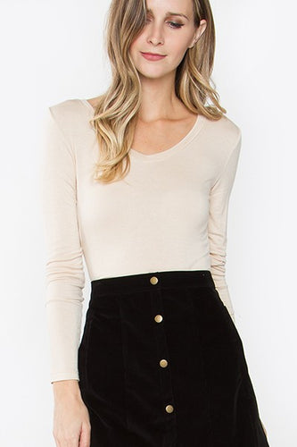 Everyday Basic Beige Top