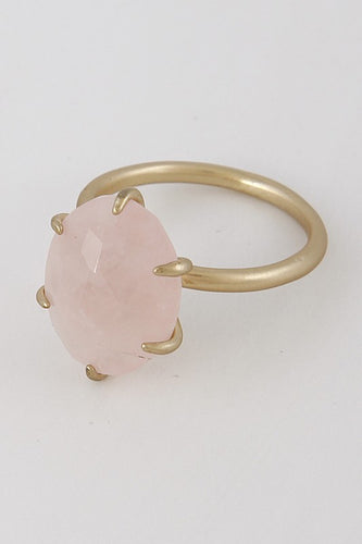 Pink /Gold Oval Stone Ring