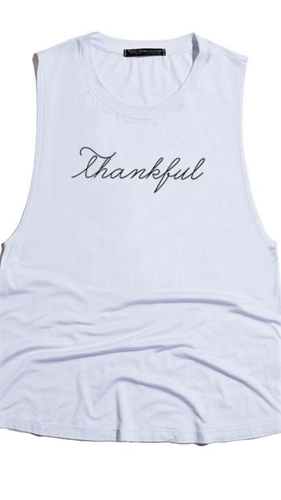 Thankful Tee- White
