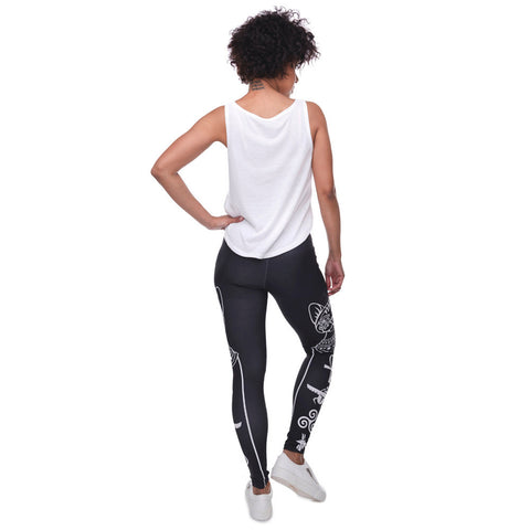 Egyptian Cat Symbols Legging J2 Boulevard