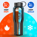 T-Shaped Vacuum Insulated Tumbler Travel Flask, 32oz