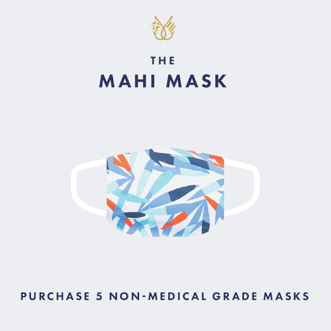 Pack of 5 Non-Medical Grade Mahi Gold Masks for $25