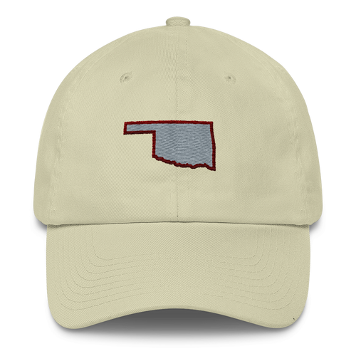 Oklahoma Outline Crimson/Gray Cap